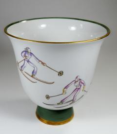 Gio Ponti Gio Ponti for Richard Ginori Vase with Ski Theme - 385487