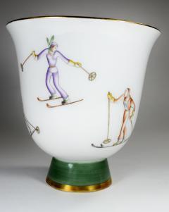 Gio Ponti Gio Ponti for Richard Ginori Vase with Ski Theme - 385488