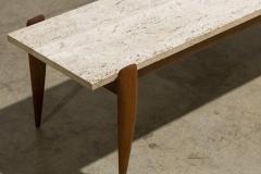 Gio Ponti Gio Ponti for Singer Sons Travertine Top Coffee Table - 2037927