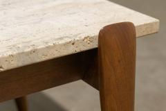 Gio Ponti Gio Ponti for Singer Sons Travertine Top Coffee Table - 2037928