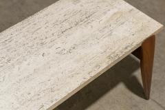 Gio Ponti Gio Ponti for Singer Sons Travertine Top Coffee Table - 2037929