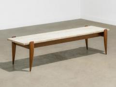 Gio Ponti Gio Ponti for Singer Sons Travertine Top Coffee Table - 2037930