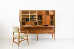 Gio Ponti Gio Ponti light walnut cabinet with four compartments hidden - 2140017