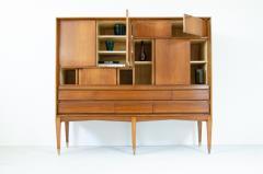 Gio Ponti Gio Ponti light walnut cabinet with four compartments hidden - 2140030