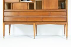 Gio Ponti Gio Ponti light walnut cabinet with four compartments hidden - 2140032