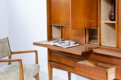 Gio Ponti Gio Ponti light walnut cabinet with four compartments hidden - 2140034
