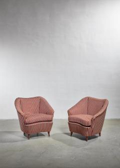 Gio Ponti Gio Ponti pair of lounge chairs Italy 1940s - 1045361