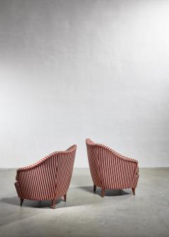 Gio Ponti Gio Ponti pair of lounge chairs Italy 1940s - 1045362
