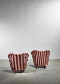 Gio Ponti Gio Ponti pair of lounge chairs Italy 1940s - 1045364