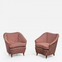 Gio Ponti Gio Ponti pair of lounge chairs Italy 1940s - 1045715
