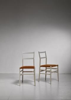 Gio Ponti Gio Ponti pair rare grey Leggera chairs Italy 1950s - 1014229