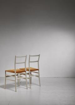 Gio Ponti Gio Ponti pair rare grey Leggera chairs Italy 1950s - 1014230
