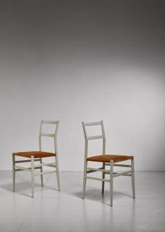 Gio Ponti Gio Ponti pair rare grey Leggera chairs Italy 1950s - 1014231