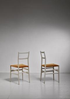 Gio Ponti Gio Ponti pair rare grey Leggera chairs Italy 1950s - 1014232
