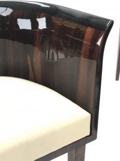 Gio Ponti Gio Ponti rarest art deco pair of arm chair with silver bronze back insert - 903135