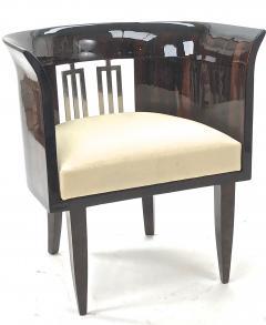 Gio Ponti Gio Ponti rarest art deco pair of arm chair with silver bronze back insert - 903136