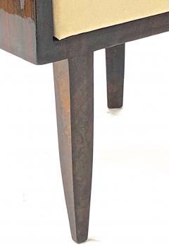 Gio Ponti Gio Ponti rarest art deco pair of arm chair with silver bronze back insert - 903139