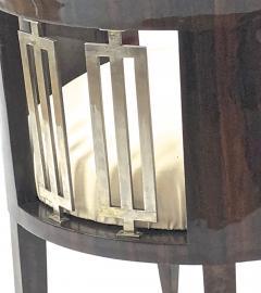 Gio Ponti Gio Ponti rarest art deco pair of arm chair with silver bronze back insert - 903145
