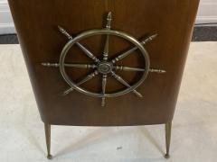 Gio Ponti ITALIAN MID CENTURY SHIPS WHEEL MODERNIST BAR - 1381836