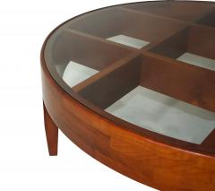 Gio Ponti Important Italian Modern Walnut and Glass Low Table - 1090502
