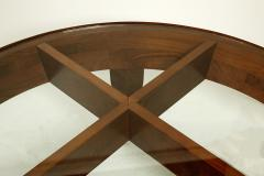 Gio Ponti Important Italian Modern Walnut and Glass Low Table - 1090503