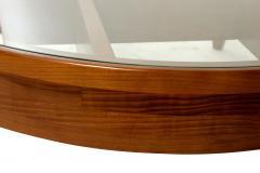 Gio Ponti Important Italian Modern Walnut and Glass Low Table - 1090504