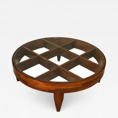 Gio Ponti Important Italian Modern Walnut and Glass Low Table - 1114403