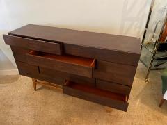 Gio Ponti Italian Modern 12 Drawer Walnut Dresser Gio Ponti - 2101920