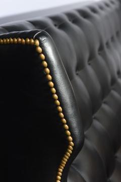 Gio Ponti Italian Modern Black Upholstered Wing Back Sofa Gio Ponti - 528640