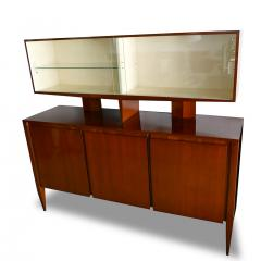 Gio Ponti Italian Modern Walnut Credenza with Display Superstructure Gio Ponti - 912016