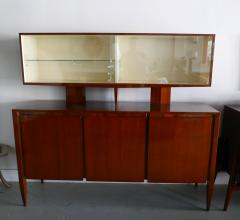 Gio Ponti Italian Modern Walnut Credenza with Display Superstructure Gio Ponti - 912017