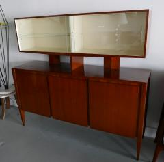 Gio Ponti Italian Modern Walnut Credenza with Display Superstructure Gio Ponti - 912018
