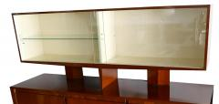 Gio Ponti Italian Modern Walnut Credenza with Display Superstructure Gio Ponti - 912021