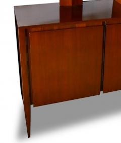 Gio Ponti Italian Modern Walnut Credenza with Display Superstructure Gio Ponti - 912023