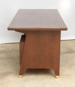 Gio Ponti Italian Modern Walnut and Brass Executive Desk Gio Ponti - 389571