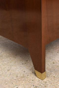 Gio Ponti Italian Modern Walnut and Brass Executive Desk Gio Ponti - 389575
