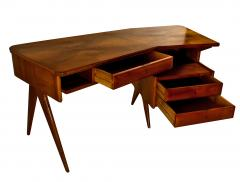 Gio Ponti Italian Modern Walnut and Rootwood Desk attributed to Gio Ponti - 1177854