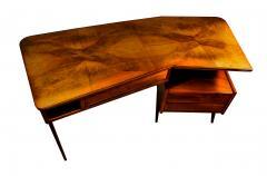 Gio Ponti Italian Modern Walnut and Rootwood Desk attributed to Gio Ponti - 1177857