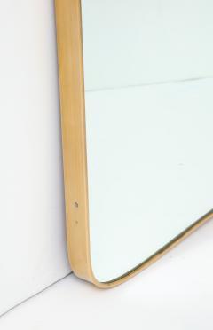 Gio Ponti Large Mid Century Italian Brass Framed Mirror Gio Ponti Style - 1399278