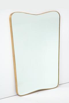 Gio Ponti Large Mid Century Italian Brass Framed Mirror Gio Ponti Style - 1399281