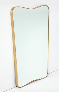 Gio Ponti Large Mid Century Italian Brass Framed Mirror Gio Ponti Style - 1399282