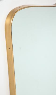 Gio Ponti Large Mid Century Italian Brass Framed Mirror Gio Ponti Style - 1399284