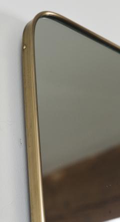 Gio Ponti Large Mid Century Italian Brass Framed Mirror Gio Ponti Style - 1569640