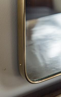 Gio Ponti Large Mid Century Italian Brass Framed Mirror Gio Ponti Style - 1569669