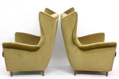 Gio Ponti Large and Imposing Pair of Italian Modern Lounge Chairs in Gio Ponti Style - 348327