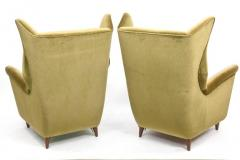 Gio Ponti Large and Imposing Pair of Italian Modern Lounge Chairs in Gio Ponti Style - 348329