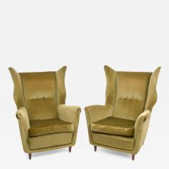 Gio Ponti Large and Imposing Pair of Italian Modern Lounge Chairs in Gio Ponti Style - 349301