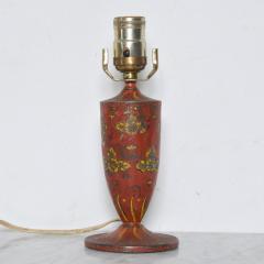 Gio Ponti Lovely Decorative Red Hand Painted Petite Table Lamp Italian Gio Ponti 1950s Era - 1901078