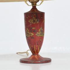 Gio Ponti Lovely Decorative Red Hand Painted Petite Table Lamp Italian Gio Ponti 1950s Era - 1901082