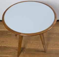 Gio Ponti Mid Century Low Circular Side Table Gio Ponti Style - 1184483